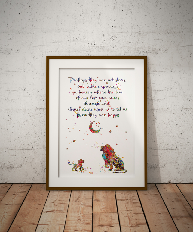 Lion King Quote Watercolour Print Wall Art