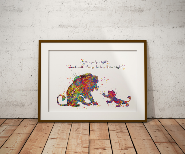 Lion King 2 Quote Watercolour Print Wall Art