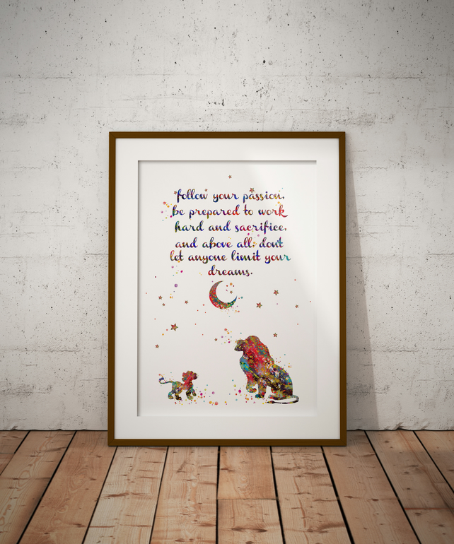 Lion King Quote 2 Watercolour Print Wall Art