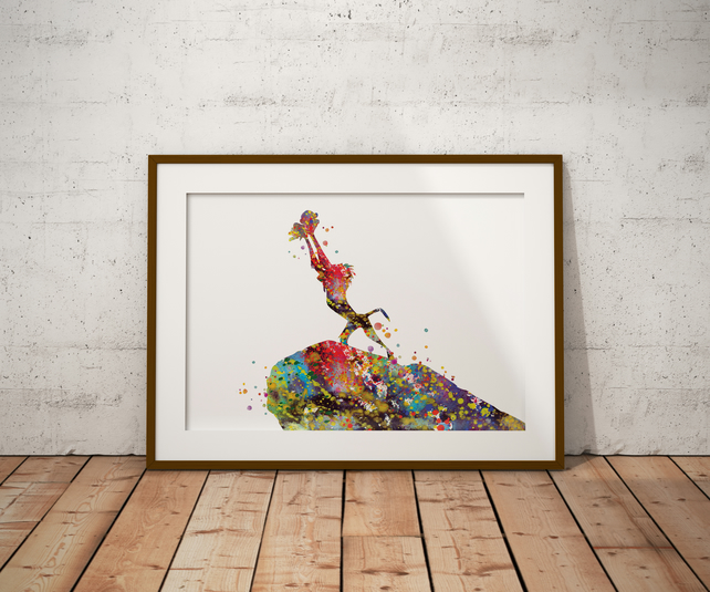 Lion King 1 Watercolour Print Wall Art