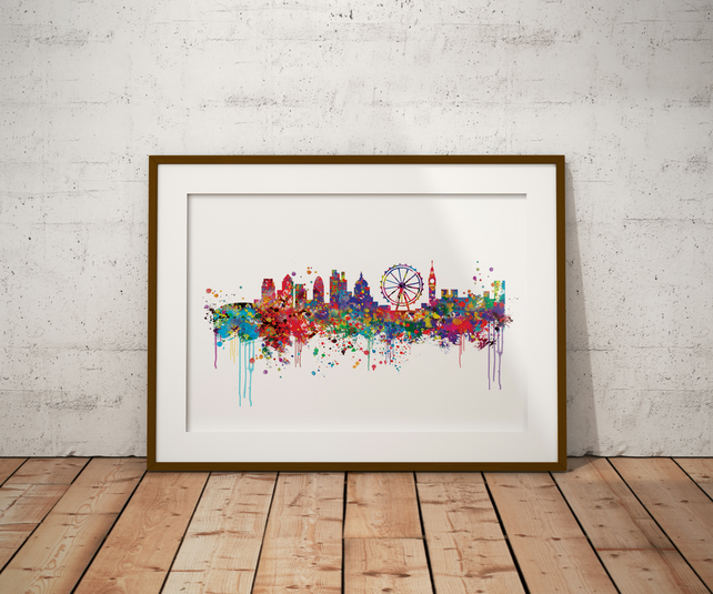 London Watercolour Print Wall Art