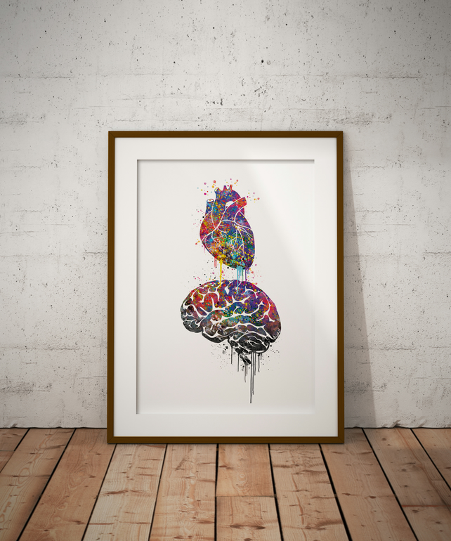 Love Watercolour Print Wall Art
