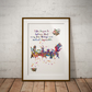 Mad Hatter Tea Party Quote 2 Watercolour Print Wall Art