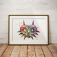 Majoras Mask Watercolour Print Wall Art