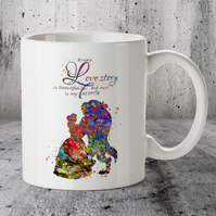Beauty and Beast Disney Popular Love Story Quote 1 Mug Cup