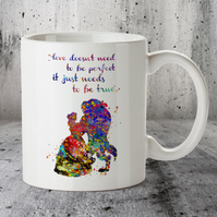 Beauty and Beast Disney Popular Love Story Quote 2 Mug Cup