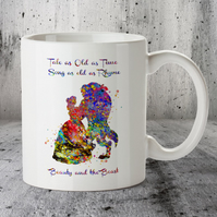 Beauty and Beast Disney Popular Love Story Quote 3 Mug Cup