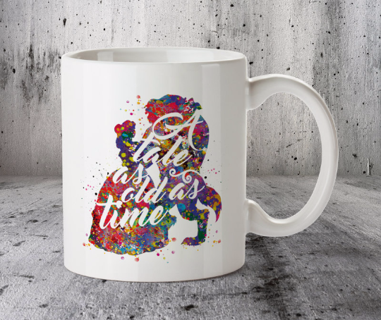 Beauty and Beast Disney Popular Love Story Quote 7 Mug Cup