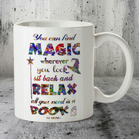 Dr Seuss Quote Watercolor Mug, Book Lover, Inspirational, Watercolor Print, Mug