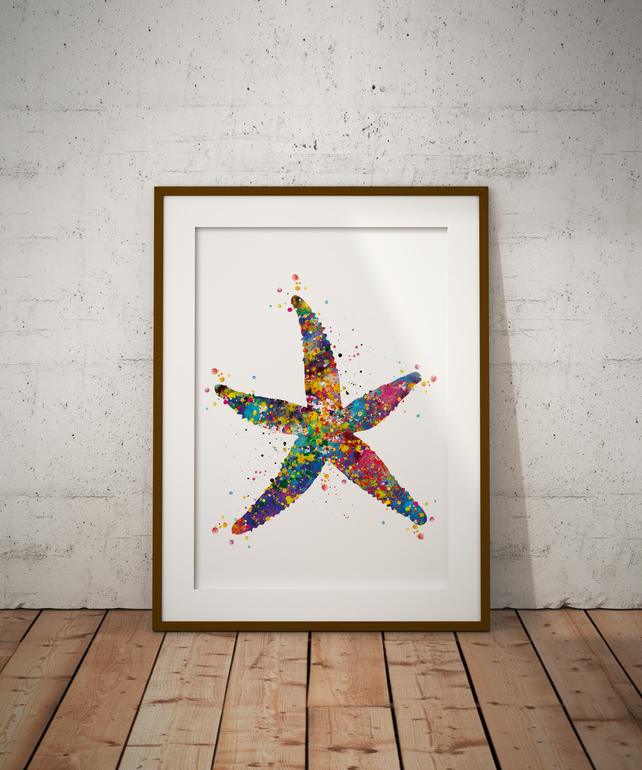 Starfish Watercolour Print Wall Art