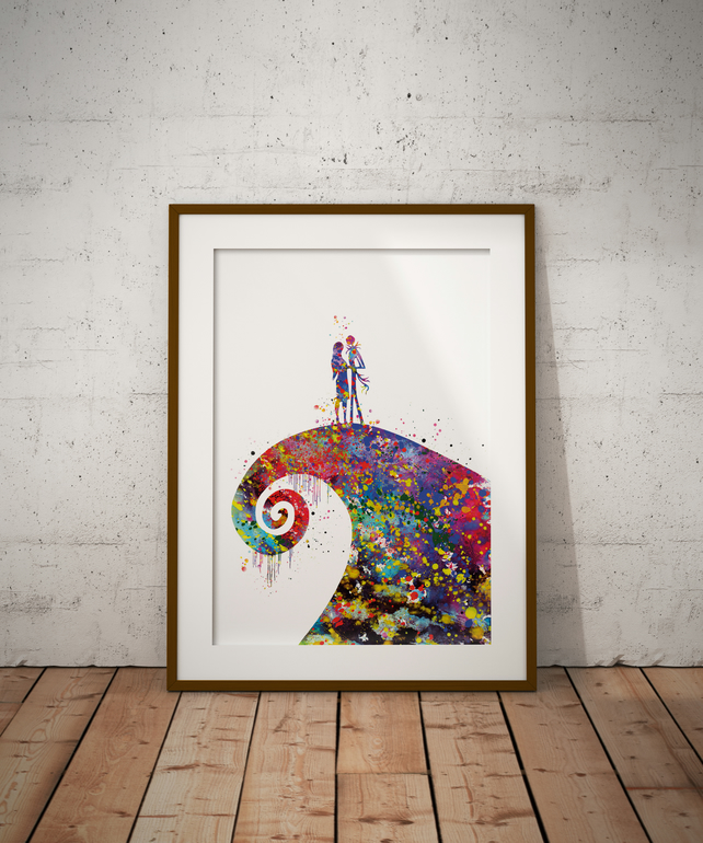 The Nightmare Coloured Watercolour Print Wall Art