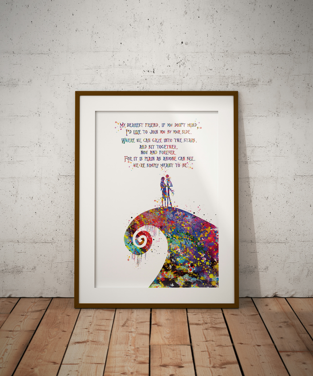 The Nightmare Quote Watercolour Print Wall Art