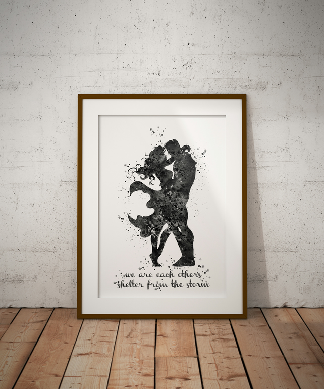 Superman Wonder Quote Black And White Watercolour Print Wall Art