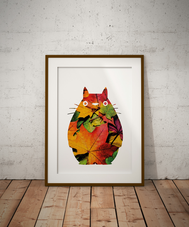 Totoro 3 Watercolour Print Wall Art
