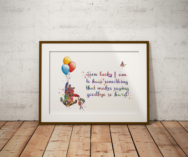 Winnie The Pooh Quote 2 Watercolour Print Wall Art