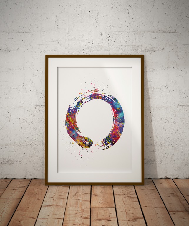 Zen Watercolour Print Wall Art