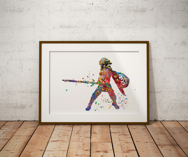 Zelda 8 Watercolour Print Wall Art