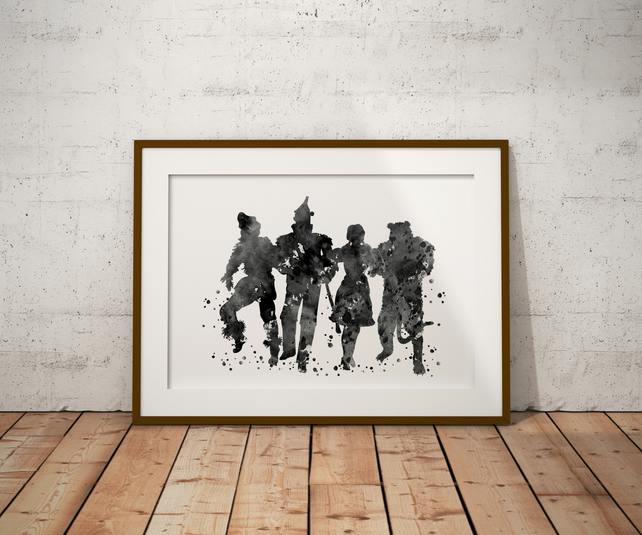 Wizard Of Oz Watercolour Print Wall Art