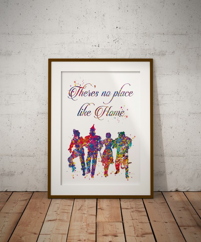 Wizard Of Oz Quote 3 Watercolour Print Wall Art