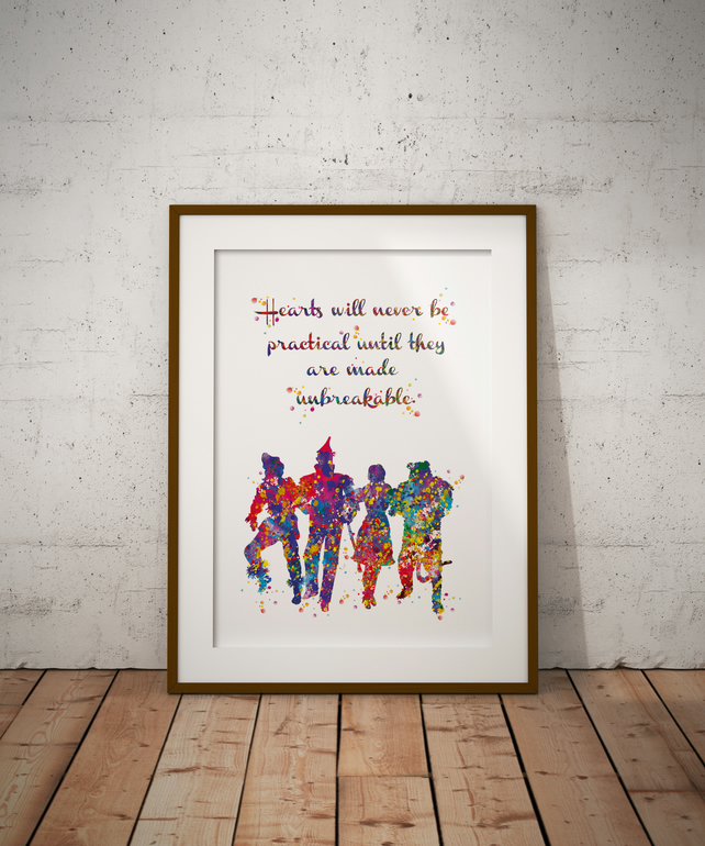Wizard Of Oz Quote 4 Watercolour Print Wall Art