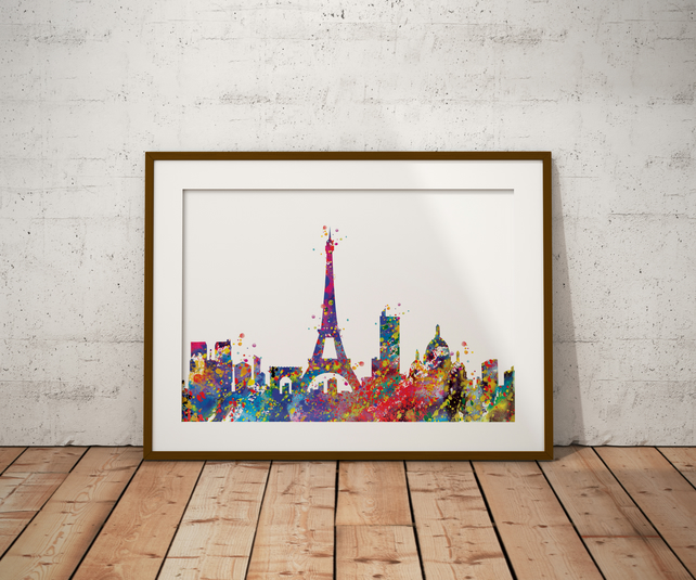 Paris Watercolour Print Wall Art