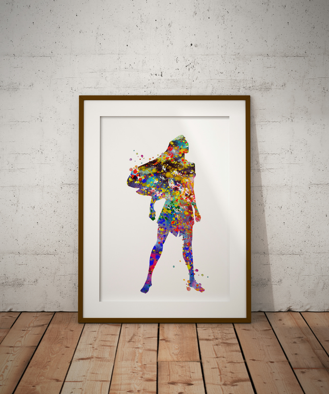 Pocahontas Watercolour Print Wall Art