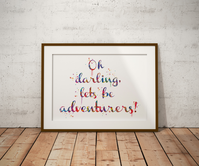 Oh Darling Watercolour Print Wall Art