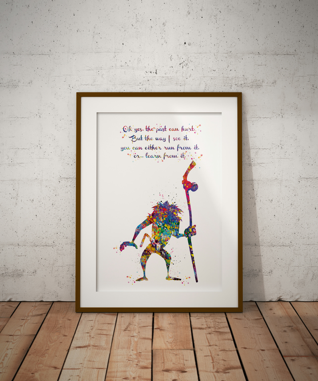 Rafiki Watercolour Print Wall Art