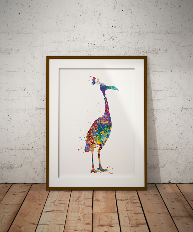 Snipe Watercolour Print Wall Art