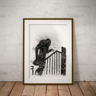 Nosferatu Watercolour Print Wall Art