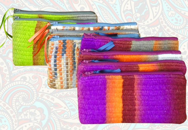 CUSTOM MADE - Handwoven purse, choose your colours