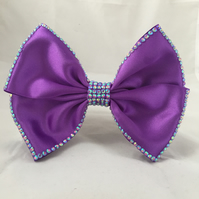 Huge Purple Showstopping Purple Hair Bow Clip