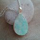 Stunning turquoise crystal pendant
