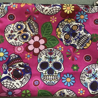 Sugar skull make up bag