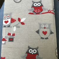 Padded note book cover (owls)