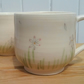 A pair of handthrown ceramic handpainted daisy mugs - pottery daisies cup
