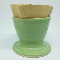 Ceramic hand made coffee tea pour over for cup also good as a planter for plant