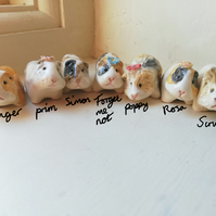 Handmade ceramic guinea pig figure ONLY 1 LEFT for pocket pet lover
