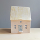 Mini cottage ceramic house tea light - pottery candle holder new stay home gift