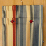 Vertical striped peg bag