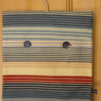 Horizontal striped hang-it-all bag