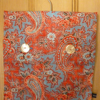 Pink Paisley hang-it-all bag