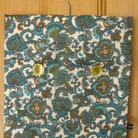 Blue Paisley pattern peg bag