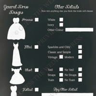 Guess The Wedding Dress ® Fun Wedding Hen Game. 8.95 for 25 Game Sheets