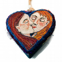 The Lovers - Tarot Heart Decoration