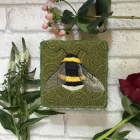 Bumblebee embroidered jewellery box