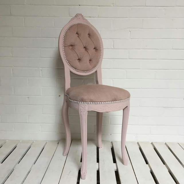 pretty nice 48bd0 1197a Upcycled pink boudoir chair dressing table chair
