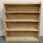Pine bookcase book shelves handmade from recycled wood