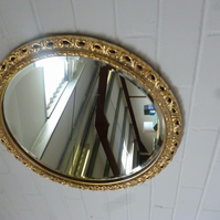 Up-cycled Gold Gilded Vintage Effect Mirror