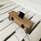 Wooden mobile phone docking station